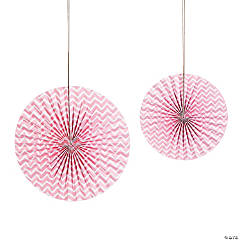 Light Pink Chevron Hanging Fans