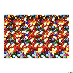 Christmas Lights Backdrop Banner