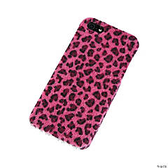 Faux Fur Black & Pink Cheetah Print iPhone® 5 Case