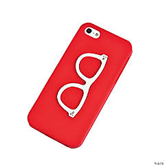 Silicone Red Retro Eye Glasses iPhone® 5 Case