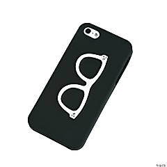 Silicone Black Retro Eye Glasses iPhone® 5 Case