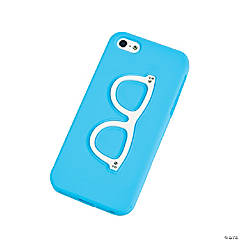 Silicone Blue Retro Eye Glasses iPhone® 5 Case