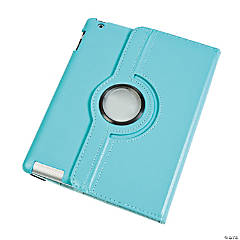 Leather Rotating Light Blue iPad® Case for Generations 3 & 4
