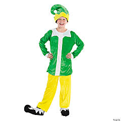 Yellow & Green Elf Costume for Kids - Large/Extra Large
