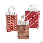 Candy Cane Kraft Paper Bag Assortment