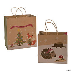 Festive Fox Kraft Bag Assortment