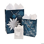 Navy & Silver Winter Wishes Gift Bags