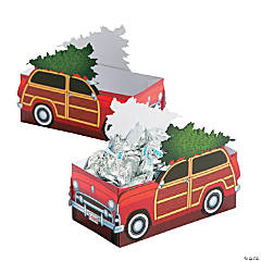 Cozy Station Wagon Christmas Treat Boxes