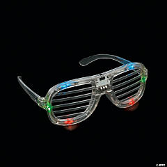 Light-Up LED Shutter Shading Glasses