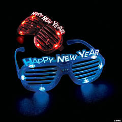 LED New Year's Eve Shutter Shading Glasses