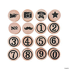Vintage Typewriter Rubber Stamps