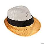 Gold & Silver Sequin Fedora Hat