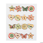 Patterned Wood Button Assortment