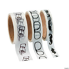 Mustache Washi Tape Set