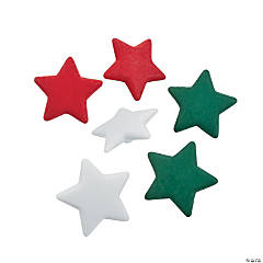 Red, White & Green Star Buttons