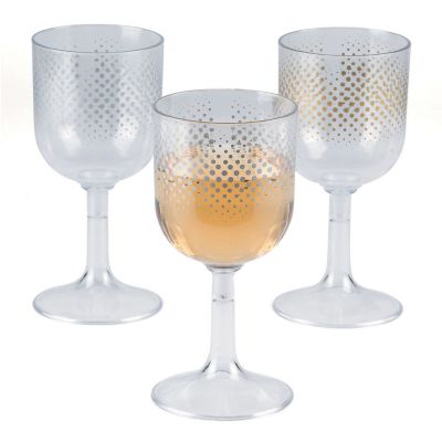 quickview image of enchanted christmas plastic wine glasses with sku13667901