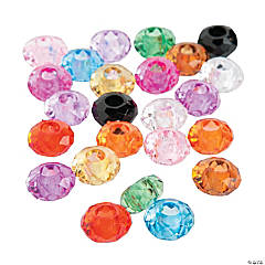 Faceted Large Hole Beads