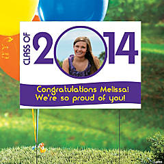 Class of 2014 Custom Photo Yard Sign