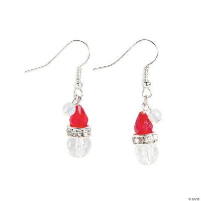 Santa Hat Earrings Craft Kit
