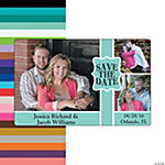 Save the Date Triple Image Custom Photo Magnets