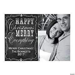Chalkboard Custom Photo Christmas Cards