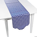 Blue Chevron & Polka Dot Table Runner