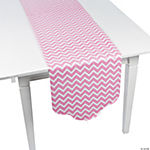 Candy Pink Chevron & Polka Dot Table Runner