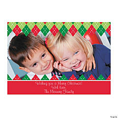 Plaid Custom Photo Christmas Cards