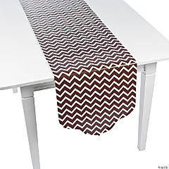 Chocolate Brown Chevron & Polka Dot Table Runner