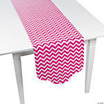 Hot Pink Chevron & Polka Dot Table Runner