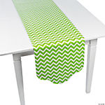 Lime Green Chevron & Polka Dot Table Runner