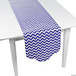 Purple Chevron & Polka Dot Table Runner