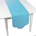 Turquoise Chevron & Polka Dot Table Runner