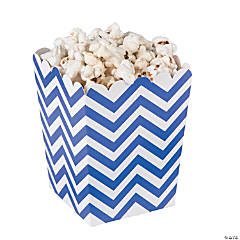 Mini Purple Chevron Popcorn Boxes