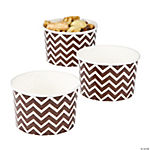 Chocolate Brown Chevron Snack Bowls