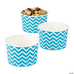 Turquoise Chevron Snack Bowls