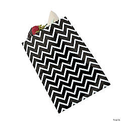 Black Chevron Cake Bags