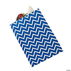 Blue Chevron Cake Bags