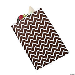 Chocolate Chevron Cake Bags