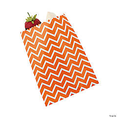 Orange Chevron Cake Bags