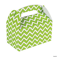 Paper Lime Chevron Treat Boxes