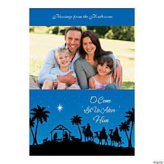 Nativity Custom Photo Christmas Cards