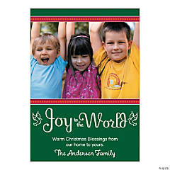 Joy to the World Custom Photo Christmas Cards