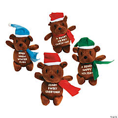 Plush Bears with Christmas Message