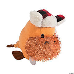 Plush Walrus with Winter Hat