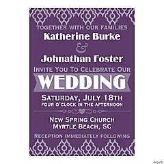 Personalized Happily Ever After Wedding Invitations