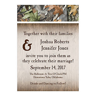 personalized camo wedding invitations - Camouflage Wedding Invitations