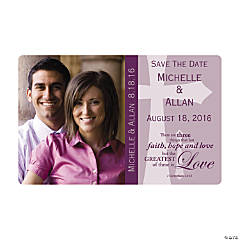 Faith Custom Photo Save the Date Magnets