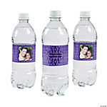 Scroll Custom Photo Water Bottle Labels