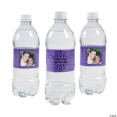 Custom photo scroll water bottle labels